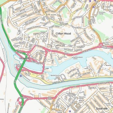 City Street Map - Bristol - Colour - Detail