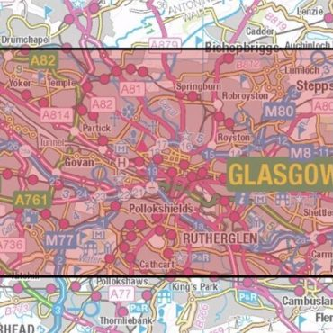 City Street Map - Central Glasgow - Coverage