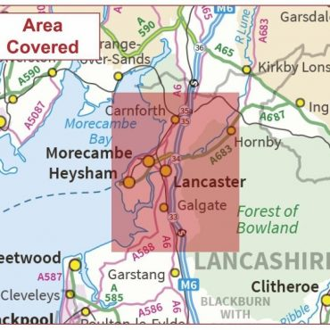 Postcode City Sector Map - Lancaster - Colour - Coverage