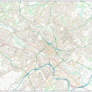 City Street Map - Leeds - Colour - Overview