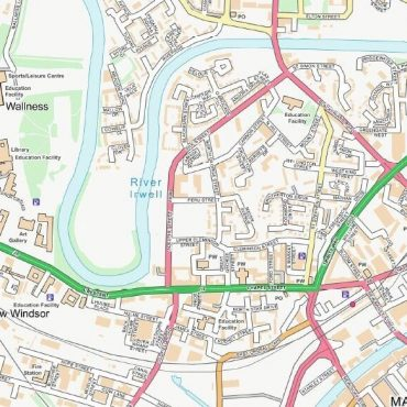 City Street Map - Central Manchester - Colour - Detail