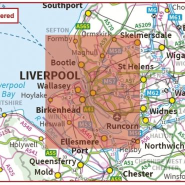 Postcode City Sector XL Map - Liverpool & The Wirral - Coverage