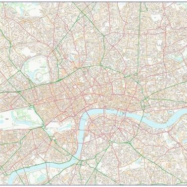 City Street Map - Central London - Colour - Overview
