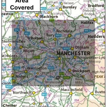 Greater Manchester District Administration Map - Coverage