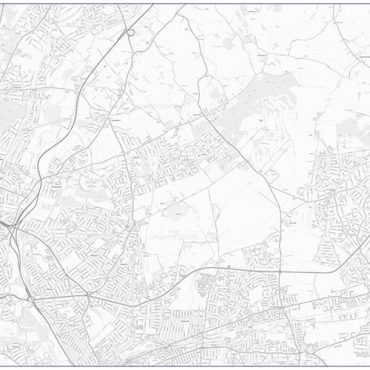City Street Map - North East London - Greyscale - Overview