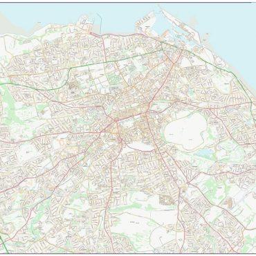 City Street Map - Central Edinburgh - Colour - Overview