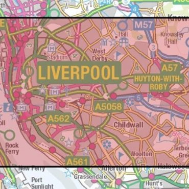City Street Map - Central Liverpool - Coverage