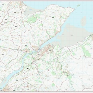 Postcode City Sector Map - Bangor - Colour - Overview