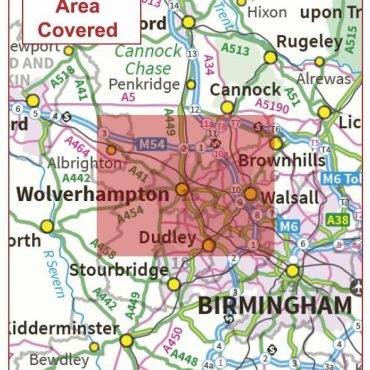 Postcode City Sector Map - Wolverhampton - Coverage