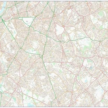 City Street Map - South London - Colour - Overview