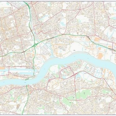 City Street Map - East London - Colour - Overview