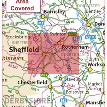 Postcode City Sector Map - Sheffield - Coverage