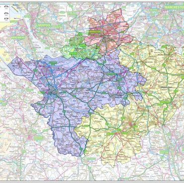 Cheshire County Boundary Map - Overview