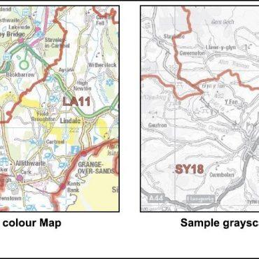 Full UK Postcode District Map Set - Details