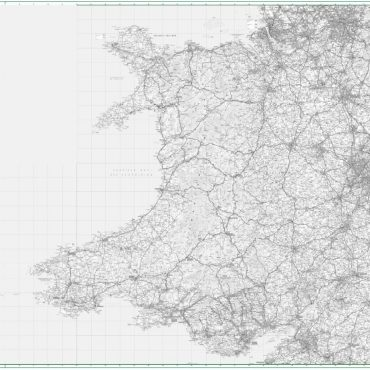 Road Map 6 - Wales and West Midlands - Greyscale - Overview