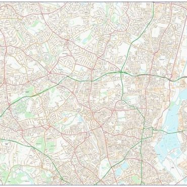 City Street Map - North London - Colour - Overview