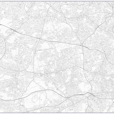 City Street Map - West London - Greyscale - Overview