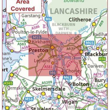 Postcode City Sector Map - Preston - Coverage