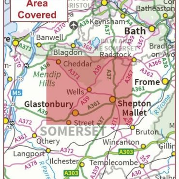 Postcode City Sector Map - Wells - Coverage