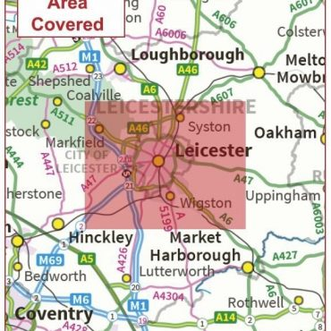 Postcode City Sector Map - Leicester - Coverage