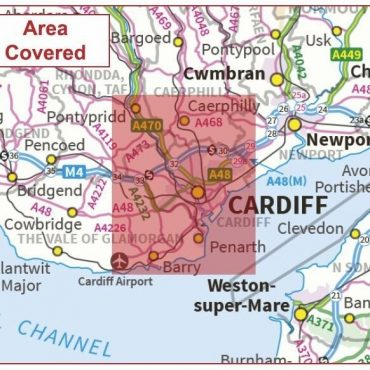 Postcode City Sector Map - Cardiff / Caerdydd - Coverage