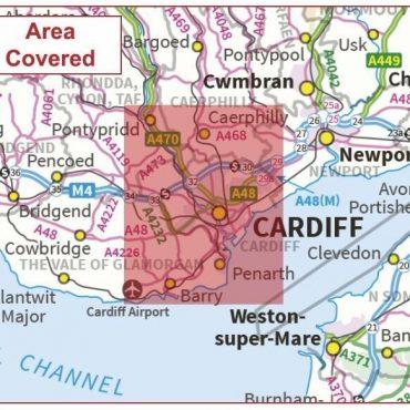 Postcode City Sector Map - Cardiff / Caerdydd - Coverage