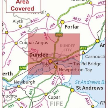 Postcode City Sector Map - Dundee - Coverage