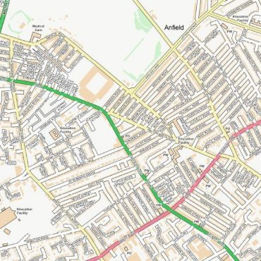 City Street Map - Central Liverpool - Colour - Detail