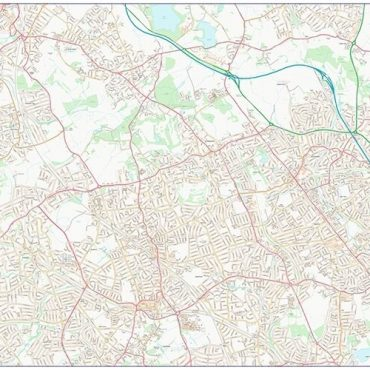 City Street Map - North West London - Colour - Overview