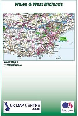 Road Map 6 - Wales and West Midlands - Colour - Folded Cover