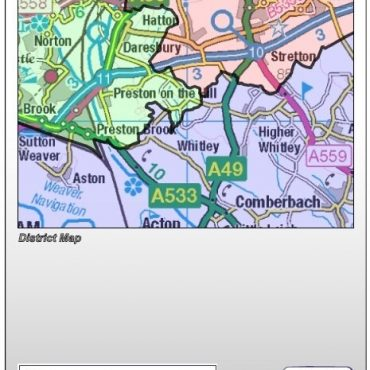 Cheshire County Boundary Map - Folded Cover