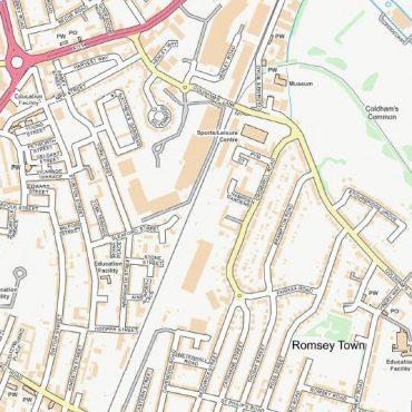 City Street Map - Central Cambridge - Colour - Detail