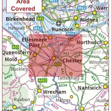 Postcode City Sector Map - Chester - Coverage