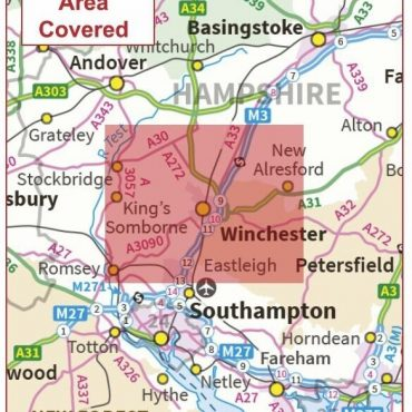 Postcode City Sector Map - Winchester - Coverage