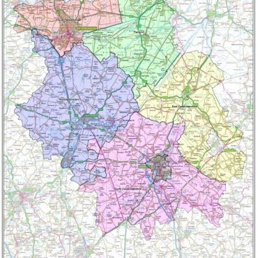 Cambridgeshire County Boundary Map - Overview