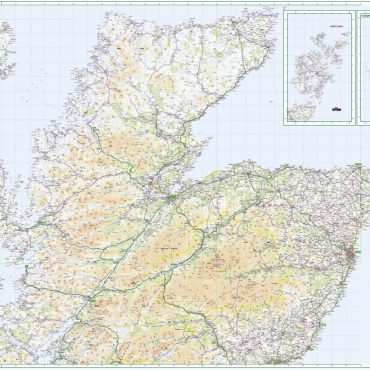 Road Map 1 - Northern Scotland, Orkney and Shetland - Colour - Overview