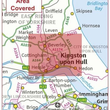 Postcode City Sector Map - Kingston-Upon-Hull - Coverage