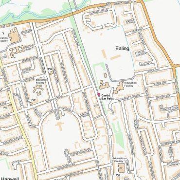 City Street Map - West London - Colour - Detail