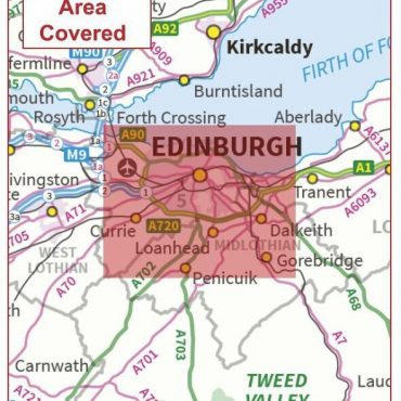 Postcode City Sector Map - Edinburgh - Coverage