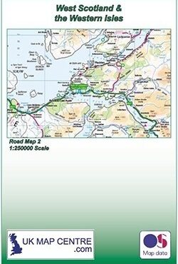 Road Map 2 - Western Scotland and the Western Isles - Colour - Folded Cover
