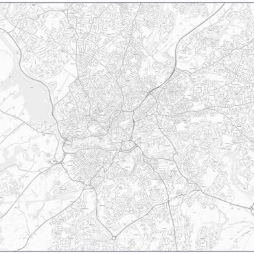 City Street Map - Bristol - Greyscale - Overview