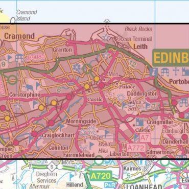 City Street Map - Central Edinburgh - Coverage