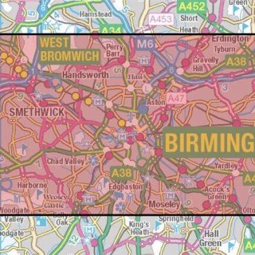 City Street Map - Birmingham - Coverage