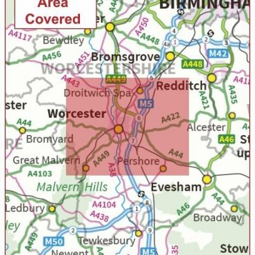 Postcode City Sector Map - Worcester - Coverage