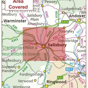 Postcode City Sector Map - Salisbury - Colour - Overview