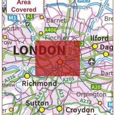Postcode City Sector Map - London - Coverage
