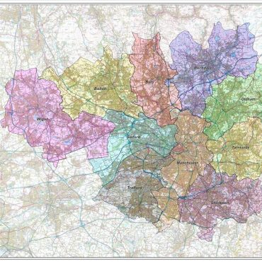 Greater Manchester District Administration Map - Overview
