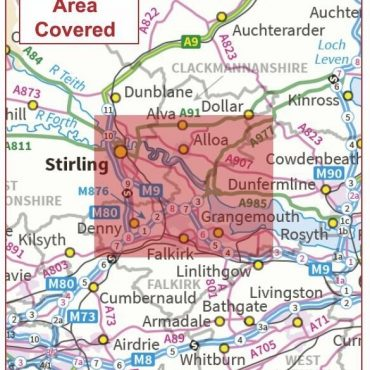 Postcode City Sector Map - Stirling - Coverage
