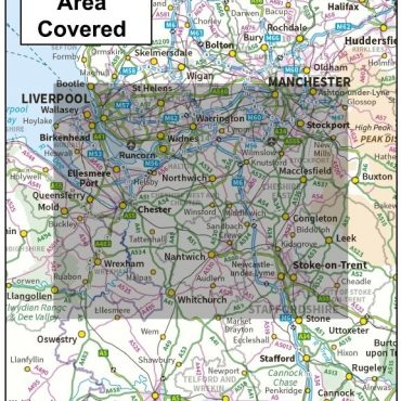 Cheshire County Boundary Map - Coverage