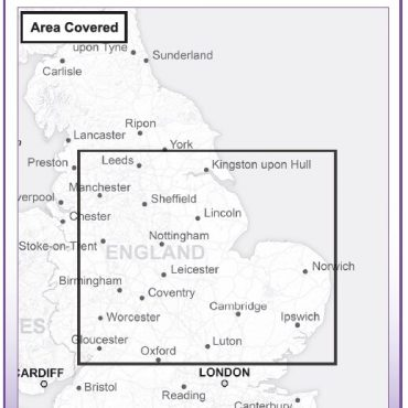 Admin Boundary Map 5 - East Midlands & East Anglia - Coverage